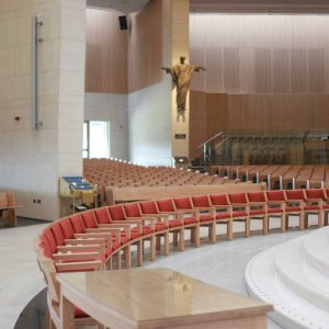 Knock Basilica beautiful image flowers upholstered chairs sanctuary furniture table flip up seating bespoke