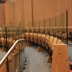 Knock Basilica seating furniture flip up auditorium bespoke innovative design close up