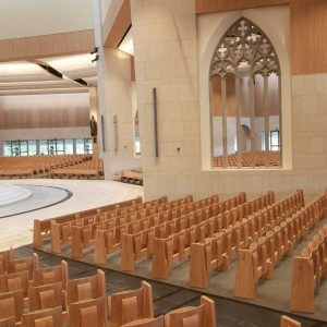 Knock Basilica auditorium flip seating innovative bespoke design portrait (2)