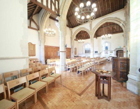 Oxshott lectern wooden chairs bespoke arms design sanctuary furniture baptismal font