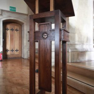 Oxshott lectern bespoke wooden design church sanctuary furniture (3)