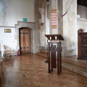 Oxshott lectern bespoke wooden design church sanctuary furniture