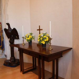 Oxshott table right side candles statue bespoke design (2)