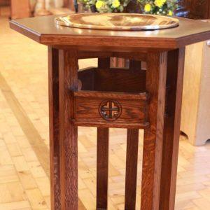 Oxshott baptismal font engraving bespoke elegant design