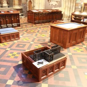 St Patrick's Cathedral education center all wooden furniture design 3D representation