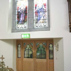 Door Entrance Exit Glass inlays stained glass window wooden cut outs