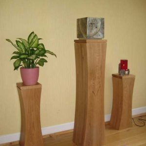 Tabernacle stand pillar wooden curved bespoke