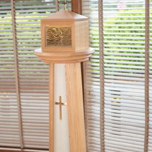 Tabernacle stand beautiful bespoke stone effect cross galway church