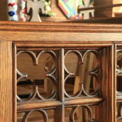 Architectural Joinery Screens Detailed Engraving Polished Finish Bespoke Close Up