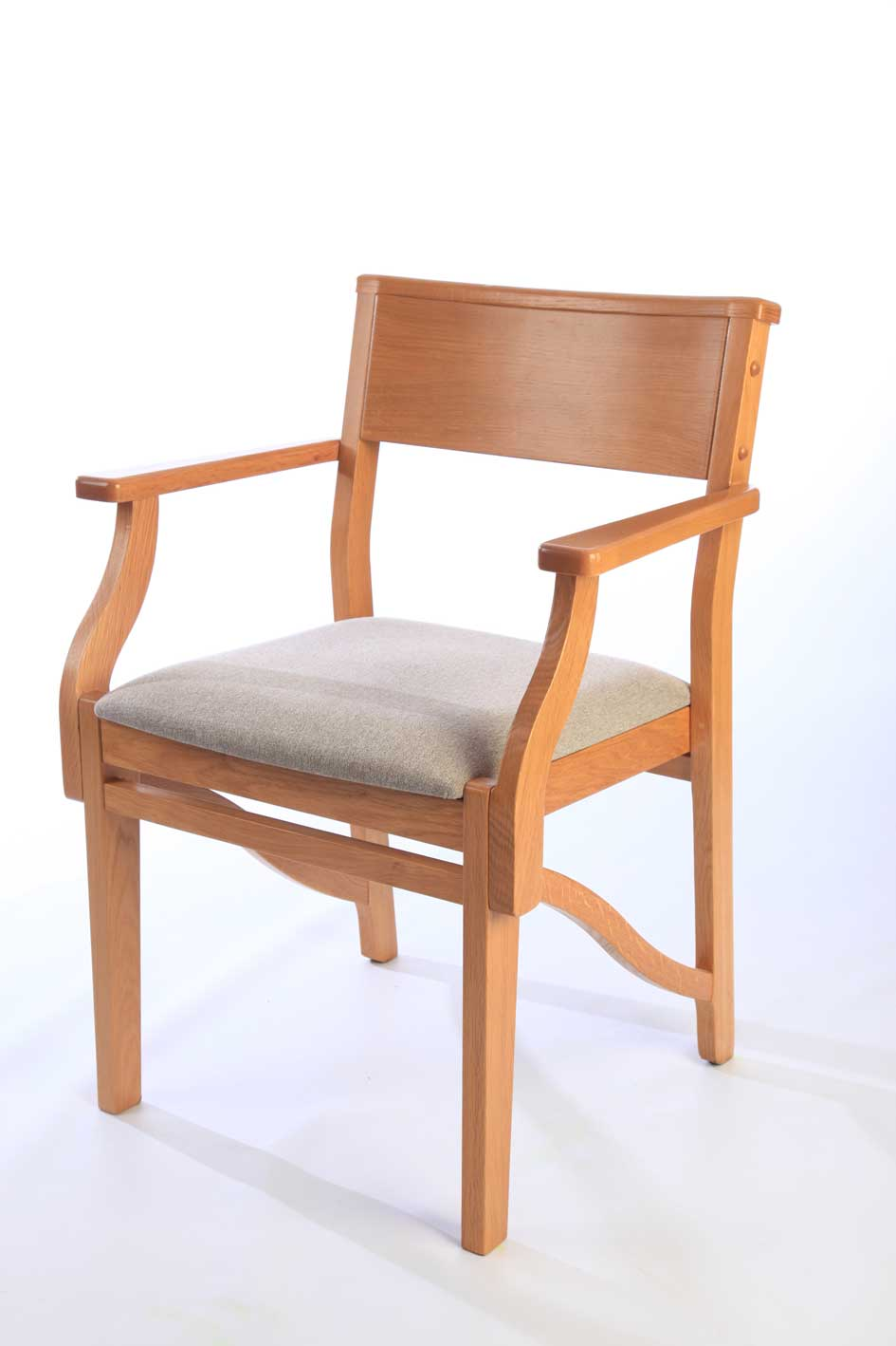 ICS Upholstered Non Stackable Wooden Chair