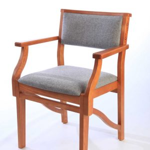 ICS upholstered non-stackable wooden chair