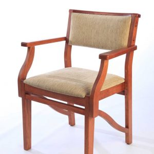 ICS upholstered wooden chair