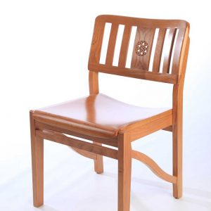 All wooden chair stackable solid frame bespoke back design