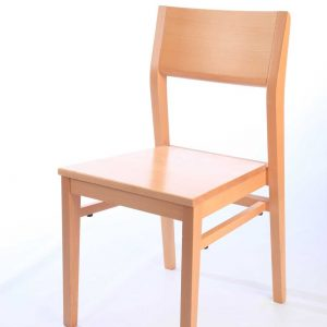 All wooden chair stackable solid frame design