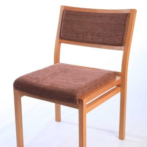 ICS wooden upholstered stacking chair