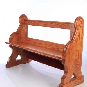 Traditional bench pew front view bespoke side engravings durable kneeler (3)