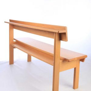 Modular seating non-stacking rear view all wooden bench bespoke design