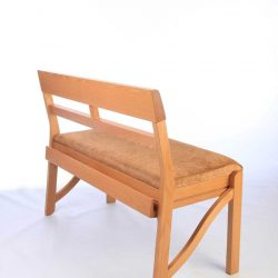 Rear view of the Farncombe stackable bench