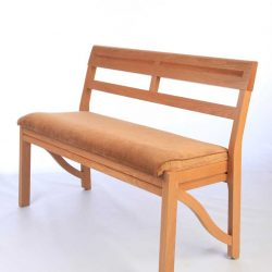 Front view of the Farncombe stackable bench