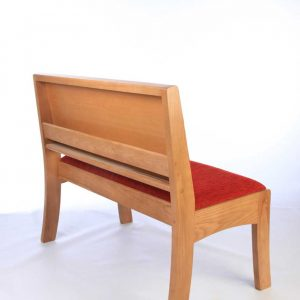 Modular seating non-stacking red upholstered seat and back Harrogate back