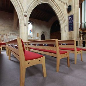 Innovative Bench Design in St. Mark's Church, Harrogate