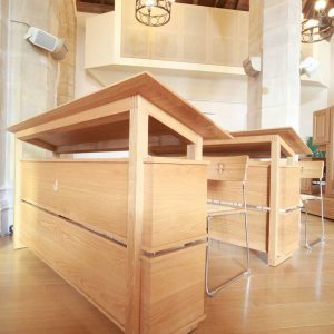 Choir Stalls Bespoke design craftsmanship Oxshott wood