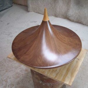 Baptismal Font bespoke curved artistic lid pointed top