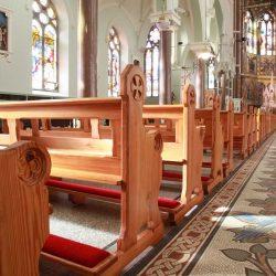 Restoration church pews engravings restored kneelers bespoke design