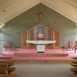 Reredos wooden cut outs bespoke sanctuary furniture craft