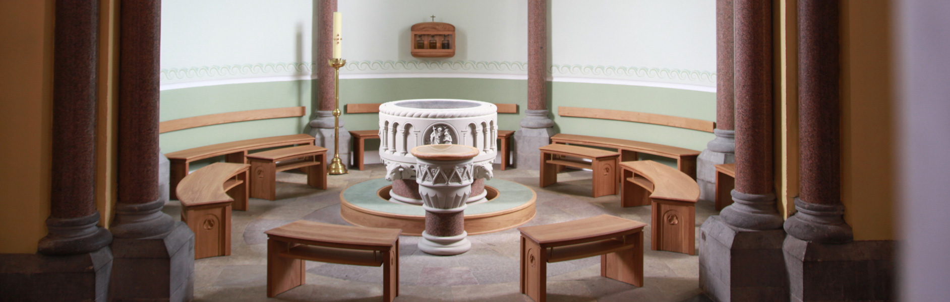 ICS Church Furnishers Baptismal Fonts in Sligo Cathedral, Sligo