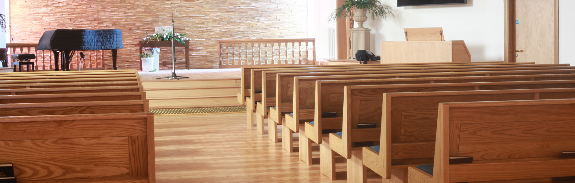ICS design & manufacture church pews