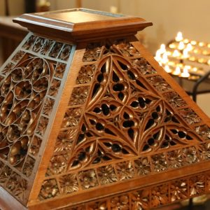 St Patrick's Cathedral bespoke unique intricate detailed engravings art furniture