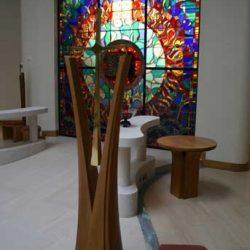 Sanctuary Cross Wooden Curved Split bespoke craftsmanship