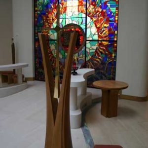 Sanctuary Cross Wooden Curved Split bespoke craftsmanship